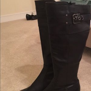 Marc Fisher Riding Leather Boot